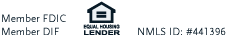 Member FDIC, DIF and Equal Housing Lender logos